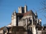 vue d'Auxerre - la cathédrale