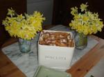 bugnes et jonquilles au mois de mars