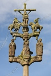 Calvaire de l'enclos paroissial de Sainte-Marie-du-Ménez-Hom en Bretagne