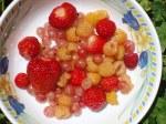 dessert de fruits rouges du jardin