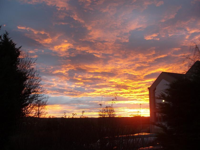 lever du soleil aux portes du Morvan