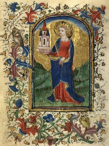 Sainte Barbe dans le livre d'heures de Toul