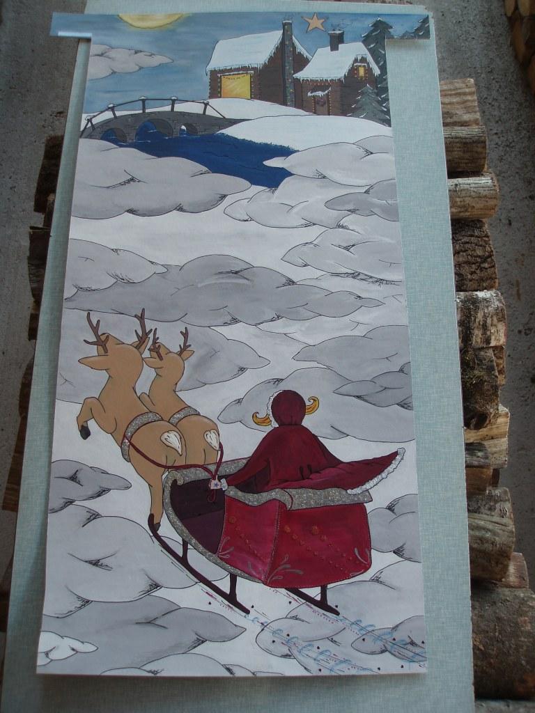 La Fille du Père Noël - dessin d'Elsa Miravallez