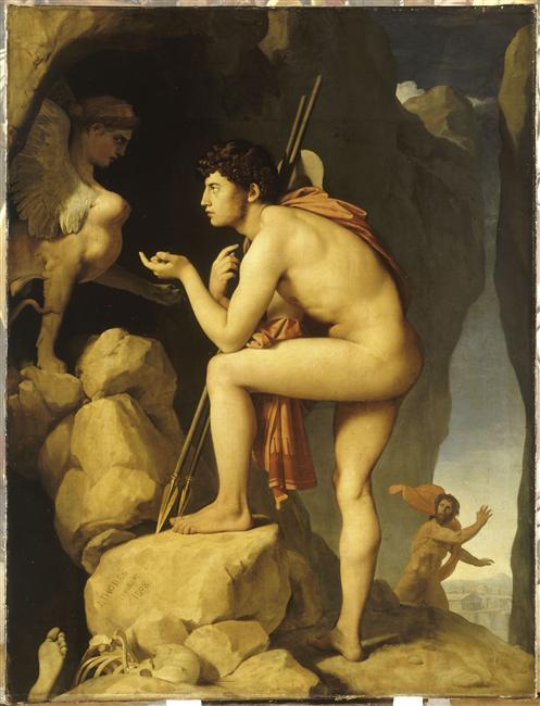 Oedipe et le Sphinx - Ingres- Musée du Louvre